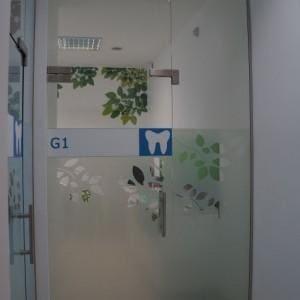 Drzwi szklane gabinet dentystyczny 3