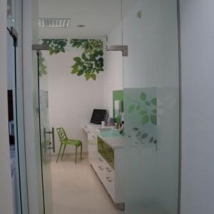 Drzwi szklane gabinet dentystyczny