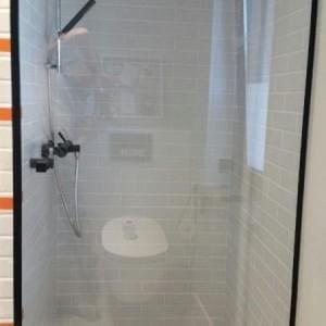 Kabina prysznicowa czarna ramka