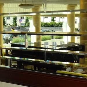 Lustra srebrne fazowane restauracja