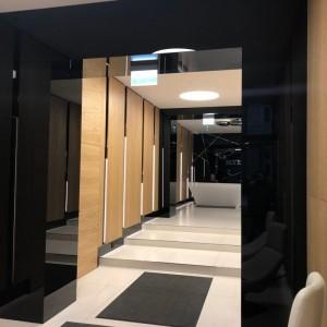 ekskluzywne panele szklane Lacobel biurowiec