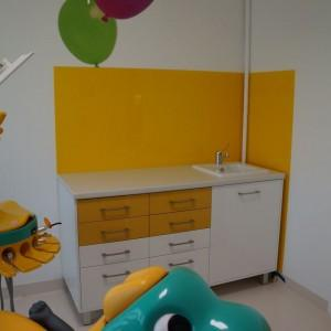 Panele szklane gabinet dentystyczny